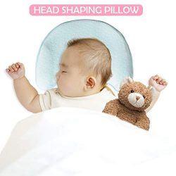 Baby Pillow, Wuayur Newborn Baby Pillow Prevent Flat Head Plagiocephaly Head Shaping Pillow Supp ...
