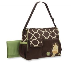 Baby Boom Animal Print Collection – Forest Giraffe Print Diaper Duffel Bag – Large,  ...