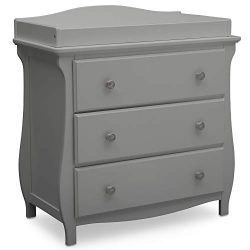 Delta Children Lancaster 3 Drawer Dresser with Changing Top, Grey