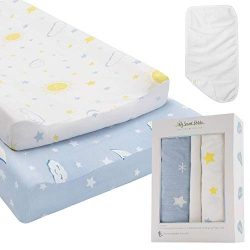 My Sweet Petite Changing Pad Cover Set | 2 Pack Extra Soft Jersey Cotton Changing Table Pad Cove ...