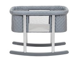 Baby Bassinet Cradle Includes Gentle Rocking Feature, Great for Newborns and Infants Safe Mattre ...