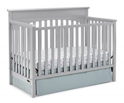 Graco Lauren Convertible Crib, Pebble Gray, Easily Converts to Toddler Bed Day Bed or Full Bed,  ...