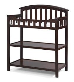 Graco Changing Table, Espresso, Nursery Changing Table for Infants or Babies, Includes Water-Res ...