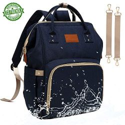 Baby Diaper Bag Backpack – Large Diaper Backpack for Mom Dad with Stroller Straps, Multi-Functio ...