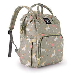 Diaper Bag Backpack for Mom / Dad,Wide Open Multi-Function Waterproof Travel Backpack Nappy Bags ...