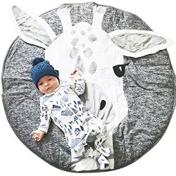 Lzttyee Cotton Round Giraffe Nursery Rug Baby Floor Playmats Crawling Mat Game Blanket for Kids& ...