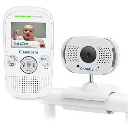 CasaCam BM100 Video Baby Monitor with Digital ClipCam, Two-Way Audio, Automatic Night Vision, Te ...
