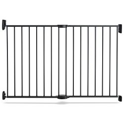 Push to Close Hardware Baby Gate, Extends 28.5″ to 45″ Wide, Dark Grey, Model MK0001