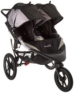 Baby Jogger 2016 Summit X3 Double Jogging Stroller – Black/Gray