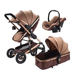 3 in 1 baby stroller for Newborns high Landscape Travel System baby stroller with Folding car se ...