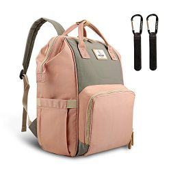 Pipi bear Diaper Bag,Multi-Functional Waterproof Baby Diaper Backpack with Insulated Pockets,Sty ...