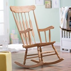 Belham Living Wood Nursery Rocker – Natural