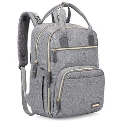 Diaper Bag Backpack, iniuniu Large Unisex Baby Bags Multifunction Travel Back Pack for Mom and D ...