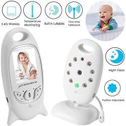 Video Baby Monitor Wireless Camera+2 Way Talk Back Audio+Night Vision+Temperature Sensor+8 Lulla ...