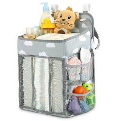 Hanging Diaper Caddy Organizer | Diaper Stacker for Changing Table, Crib, Playard or Wall | Nurs ...