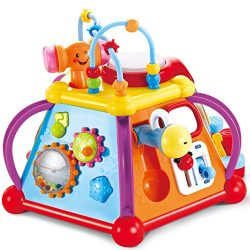 JOYIN Baby Toddler Activity Center Musical Activity Cube Play Learning Center Toy 15 in 1 Intera ...