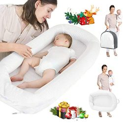 Baby Lounger, Infant Sleeper, Newborn Lounger, Nap Sleeper Seat Baby Bassinet for Bed Travel Bed ...