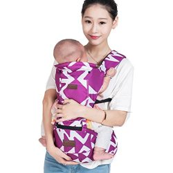 LaNova Baby Carrier with Hood Front and Back Adjustable Straps & Comfort Pads for Women and  ...