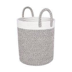 "amazing prime – Large Rope Storage Basket – 15"" x 13"" Modern Shaped Soft Touch Baske ..."