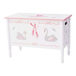 Fantasy Fields TD-12720A Ballerina Toy Chest Hand-Crafted & Hand-Painted Kids Wooden Furnitu ...