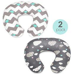 Stretchy Nursing Pillow Covers-2 Pack Nursing Pillow Slipcovers for Breastfeeding Moms,Ultra Sof ...