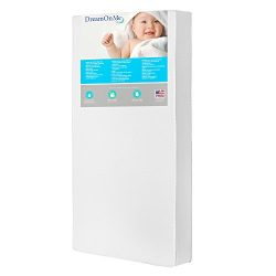 Dream On Me 2 in 1 Foam Core Crib and Toddler Bed Mattress, Lavender, 6″