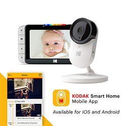 KODAK Cherish C520 Video Baby Monitor — 5″ HD Screen & Mobile App, Hi-res Camera, Remo ...