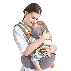 Kidsidol Baby Carrier 4-in-1 Ergonomic Baby Hipseat Front Facing Carrier Detachable Comfortable  ...