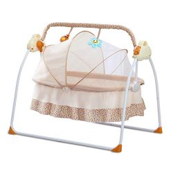 CBBAY Electric Cradle for Baby,Automatic Baby Basket Electric Rocking Multi-Function Baby Swing  ...