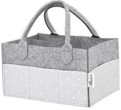 Baby Diaper Caddy Organizer – Stars, Excellent for All Diaper Sizes, Wipes, Nursery Storage Bins ...
