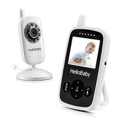 HelloBaby 2.4inch Digital Color LCD Screen Baby Monitor with up to 900 ft of Range, Infrared Nig ...