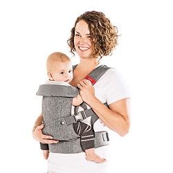 You+Me 4-in-1 Convertible Baby Carrier with 3D Cool Air Mesh – Heather Grey – Wear w ...