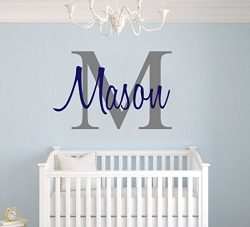 Custom Name & Initial – Premium Series – Baby Boy – Wall Decal Nursery for ...