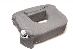 My Brest Friend Supportive Nursing Pillow For Twins 0-12 Months, Plus-Size, Dark Grey