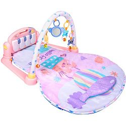 Large Baby Play Mat BATTOP Kick and Play Piano Gym – 5 Toys and Musical Activity Baby Gym  ...