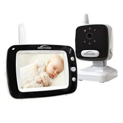 Aurola Baby Monitor with 3.5″ LCD Screen, Digital Camera, Infrared Night Vision, Two-Way T ...