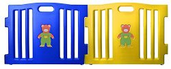Baby Diego Cubzone Playard Panel Extension Set, Blue and Yellow