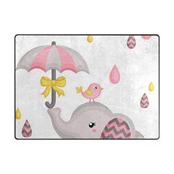 Vantaso Soft Foam Nursery Rugs Cute Elephant Bird Non Slip Play Mats for Kids Boys Girls Playing ...