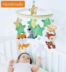 Baby Mobile Felt Nursery Crib Mobile Handmade Baby Shower Gift for Girl or Boy (Woodland)