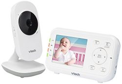 """VTech VM3252 2.8"""" Digital Video Baby Monitor with Full-Color and Automatic Night Vision, White"""