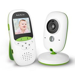 FITNATE Portable Video Baby Monitor with LCD Display, Digital Camera, Infrared Night Vision, Two ...