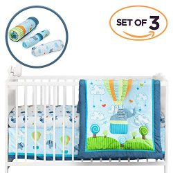 Cocoon Luxurious Elephant Baby Crib Bedding Sets for Boys – Let Your Little One Sleep Like ...