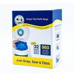 Neatforbaby Diaper Refill 32 Bags (960 Counts) Fully Compatible with Arm&Hammer Disposal Sys ...