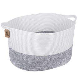INDRESSME Woven Storage Basket – Cotton Rope Basket – XXX Large Basket for Storage W ...