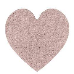 Habudda Pink Heart Shape Area Rugs for Girls Kids Room Warm Soft 100% Cotton Luxury Plush Handma ...