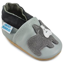 Beautiful Soft Leather Baby Shoes – Crib Shoes with Suede Soles – Bridget Bulldog Gr ...