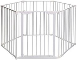 Teekland White Baby Safety Gate/Baby Protect Walls/Fireplace Fence/Dog Gates Indoor/Play Yard wi ...
