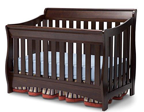 Delta Children Bentley S Series 4-in-1 Convertible Baby Crib, Chocolate