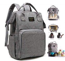 Mummy Diaper Bag Travel Nappy Backpack – Waterproof Roomy Baby Bags Multi-Function Nursing ...