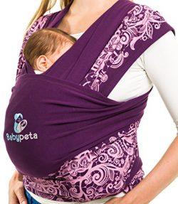 Babypeta Baby Carrier – Soft & Comfortable Colorful Wrap – Ideal Babywrap For Ne ...